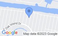 Map of Oak Island NC