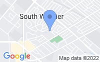 Map of Whittier CA
