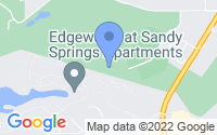 Map of Sandy Springs GA
