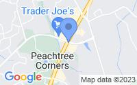 Map of Peachtree Corners GA