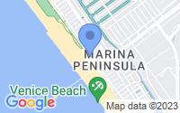 Map of Marina del Rey CA