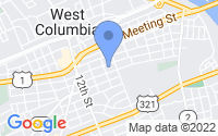 Map of West Columbia SC
