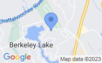 Map of Berkeley Lake GA