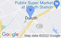 Map of Duluth GA