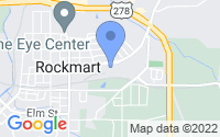 Map of Rockmart GA
