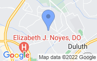 Map of Duluth GA