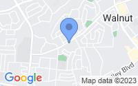 Map of Walnut CA