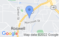 Map of Roswell GA