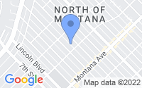 Map of Santa Monica CA