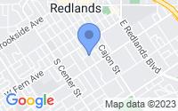 Map of Redlands CA