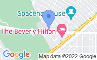 Map of Beverly Hills CA