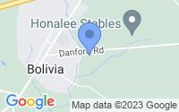 Map of Bolivia NC