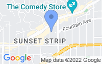 Map of West Hollywood CA