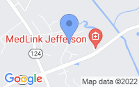 Map of Jefferson GA