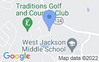Map of Jefferson GA