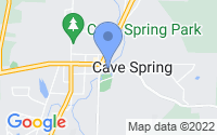 Map of Cave Spring GA