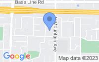 Map of Claremont CA