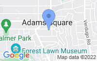 Map of Glendale CA
