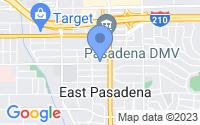 Map of Pasadena CA