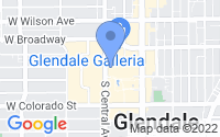 Map of Glendale CA