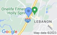 Map of Holly Springs GA