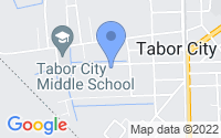 Map of Tabor City NC