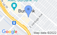Map of Burbank CA