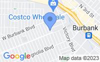 Map of Burbank CA