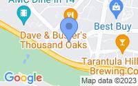 Map of Thousand Oaks CA
