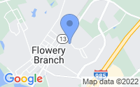 Map of Flowery Branch GA