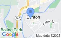 Map of Canton GA