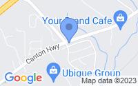 Map of Ball Ground GA