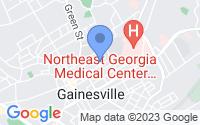 Map of Gainesville GA
