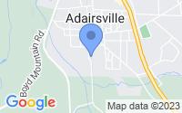 Map of Adairsville GA