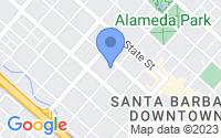 Map of Santa Barbara CA