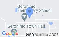 Map of Geronimo OK