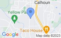 Map of Calhoun GA