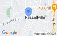 Map of Russellville AL