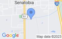 Map of Senatobia MS