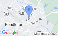 Map of Pendleton SC
