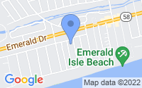 Map of Emerald Isle NC