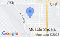 Map of Muscle Shoals AL