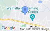 Map of Walhalla SC