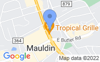 Map of Mauldin SC