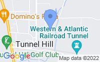 Map of Tunnel Hill GA