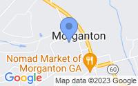 Map of Morganton GA