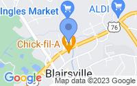 Map of Blairsville GA