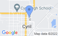 Map of Cyril OK