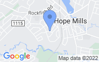 Map of Hope Mills NC