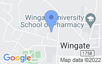 Map of Wingate NC